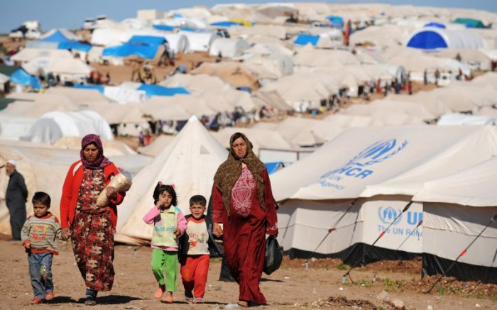 Refugee Camp in Lebanon. Source: Bulent Kilic/Getty
