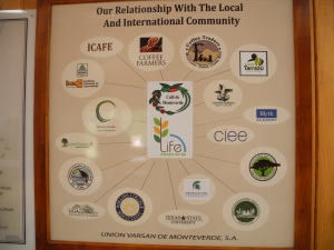 The web of partnerships that Life Monteverde has nurtured.